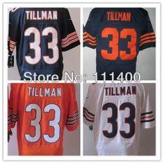 Free Shipping  33 Charles Tillman Blue White Orange Men s Elite Football  Jersey c4b30f59d