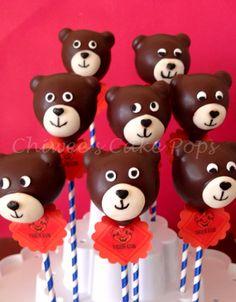 Brown Bear cake pops