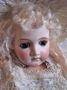 Stunning Early Portrait Jumeau.  From the shop of Victorian Retreat Antique Dolls. #DollShopsUnited