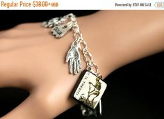 MOTHERS DAY SALE Tarot Card Bracelet. Death Charm Bracelet. Divination Bracelet. Silver Bracelet. L' Tredici Bracelet. Tarot Jewelry. Metaph by GatheringCharms from Gathering Charms by Gilliauna. Find it now at http://ift.tt/2qgFFIm!