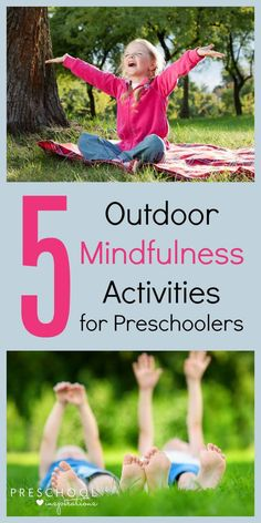 Do your kids have a hard time adjusting after school? Try these 5 Outdoor Mindfulness Activities for Preschoolers - fun and relaxing after-school activities for kids. Forest School Activities, Nature Activities, Outdoor Activities For Kids, Outdoor Learning, Therapy Activities, Learning Activities, Toddler Activities, Mindful Activities For Kids, Relaxation Activities