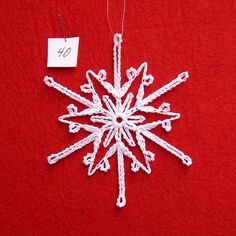 PDF Patterns for 5 Crocheted Snowflakes set 8 by TheNeedleWorks