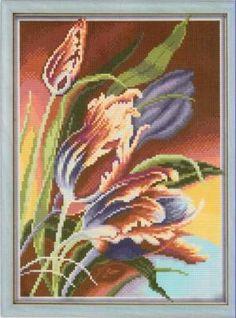 Тюльпаны - Цветы, натюрморты с цветами - Схемы вышивки - Иголка