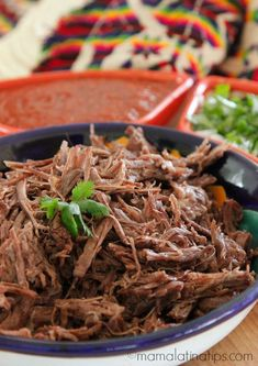 Cooking beef barbacoa in a pressure cooker is so easy and takes just minutes, but its succulent taste makes you think it has slow-cooked all day. You can also make this recipe in an Instant Pot. Mexican Dishes, Mexican Food Recipes, Crockpot Recipes, Cooking Recipes, Healthy Recipes, Ethnic Recipes, Cooking Beef, Spicy Recipes, Instant Pot Pressure Cooker