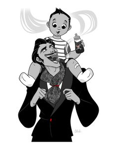""""""" Our credo: """"Sic gorgiamus allos subjectatos nunc."""" - We gladly feast on those who would subdue us. Not just pretty words. Check out my artwork here! The Addams family Character Concept, Character Art, Character Design, Illustrations, Illustration Art, Los Addams, Gomez And Morticia, Morticia Adams, Tim Burton Characters"""