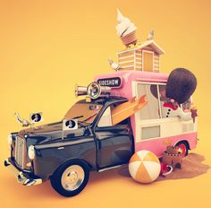 SIDESHOW by Thomas Burden, via Behance