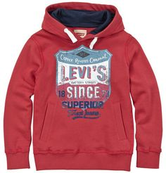 Levi's fleece hoodie with a print on shopstyle.co.uk