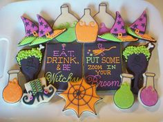halloween cookies {polka-dot zebra on flickr} --- awesome!!!
