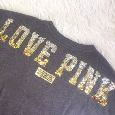 Spotted while shopping on Poshmark: • PINK • Bling Varsity Crew! #poshmark #fashion #shopping #style #PINK Victoria's Secret #Sweaters