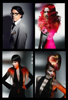 """Flashback to Aussie stylist Brad Ngata's incredible Hi-Definition styling series. Brad's use of colored extensions and his innovative, avant garde styling show why Brad is one of Hair Lingerie's top Stylists and one of our favorites """"down under"""". #hairlingerie #bradngata #hairextensions #weave #fashion #style #hair"""