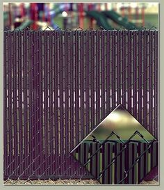 Black PRIVACY FENCE SLATS: For 6 foot Chain Link Fence (chain link fence slats) #PrivacySlat