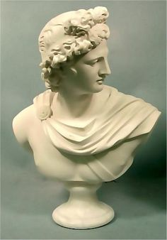 Apollo Belvedere Bust Marble Greek God Classical Sculpture