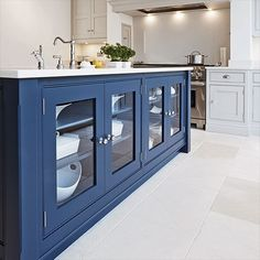Country-style kitchen islands with storage