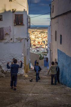 Niños jugando en las calles de #Tetouan #Morocco