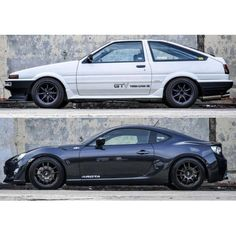 Toyota AE86, past  present *DP Loved Initial D, the new year is far better in appearance though.