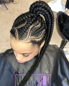 24 perfect black goddess box braids hairstyles 2020 to copy 20 cool black braided hairstyles french braid hairstyles – all … Black Girl Braids, Braids For Black Hair, Girls Braids, Big Cornrows Hairstyles, Girl Hairstyles, Hairstyles 2018, Cornrows Updo, Teenage Hairstyles, Curly Hair Styles
