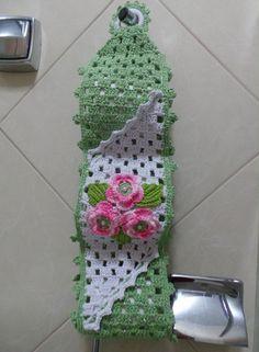 Resultado de imagem para porta papel higienico croche