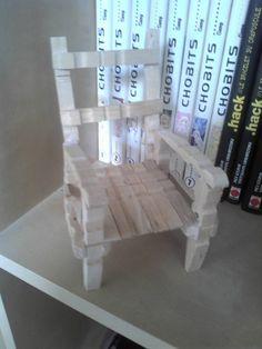 chaise en demi pince à linge