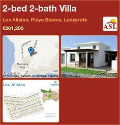 2-bed 2-bath Villa in Los Alisios, Playa Blanca, Lanzarote, Spain ►€261,200 #PropertyForSaleInSpain
