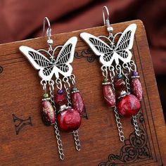 XINYAO 2017 Retro Bohemian Animal Butterfly Dangle Earrings Ethnic Beaded Tassel Earrings Drop For Women Wedding Party Jewelry