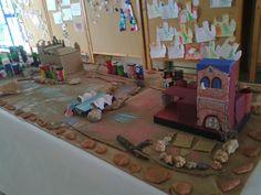 maqueta de Santa Oliva realitzada pels nens i nenes del casal cronos de l'Ampa la Parellada de Santa Oliva 2012.