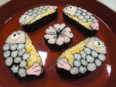 Big fish sushi Sushi, Asian Recipes, Ethnic Recipes, Asian Foods, Japanese Food Art, I Want To Eat, Bento, Love Food, Food And Drink