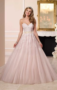 Stella York wedding dresses stocked by Fross Wedding Collections. View our bridal boutique's range of Stella York bridal gowns. Light Pink Wedding Dress, Pink Wedding Dresses, Wedding Gowns, Wedding Dressses, Prom Gowns, Wedding Colors, Lace Bridal, Bridal Gowns, White Bridal