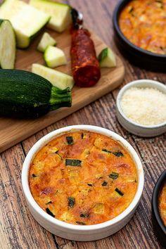 Clafoutis à la courgette, chorizo et parmesan - Amandine Cooking