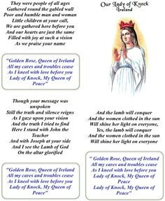 Our Lady of Knock hymn ♡ Novena Prayers, Catholic Prayers, Christian Charities, Personal Prayer, Song Words, Prayer Board, Blessed Virgin Mary, Godly Woman, Our Lady