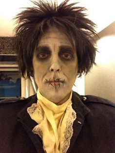 My first make-up attempt at Billy Butcherson, the zombie from Hocus Pocus, thank you, Taggert! Hocus Pocus Halloween Costumes, Halloween 2019, Halloween Cosplay, Holidays Halloween, Spooky Halloween, Diy Costumes, Halloween Party, Halloween Ideas, Billy Butcherson