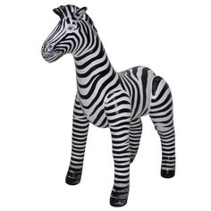 Inflatable Zebra - Small at theBIGzoo.com, a toy store featuring 3,000+ stuffed animals.