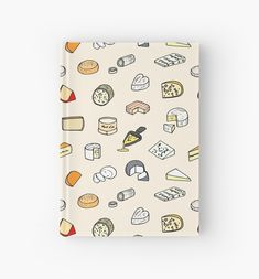 Cheese pattern notebook Graphic, Illustration, Notebook, Cheese, Journal, Wraparound, Creative, Projects, Icons