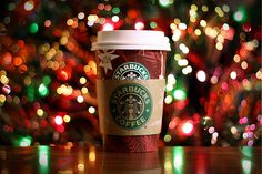 Drinking Starbucks and driving around looking at Christmas lights (December)