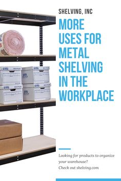 Metal shelving is an affordable, durable, and versatile option for solving many storage issues that businesses can encounter, no matter what they do. Warehouse Shelving, Metal Shelving, Workplace, Desk, Organization, Storage, Furniture, Home Decor, Getting Organized