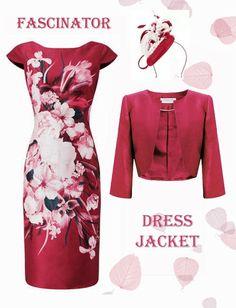5c208edaa14 18 Jacques Vert Pink Josephine Dress Anna Jacket Fascinator Mother of the  Bride Pink