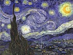 "VINCENT VAN GOGH: ""Starry night"", 1889 - oil on canvas, 73,7 - 92,1 cm. - New York, Museum of Modern Art (MOMA)"