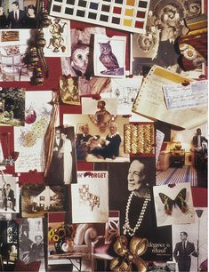 the late, great Albert Hadley's inspiration board