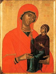 Saint Anne with the Virgin Date: century Author: Angelos Akotantos (attribution) The Benaki Museum, Athens, Greece St Anne, Byzantine Icons, Byzantine Art, Religious Icons, Religious Art, Benaki Museum, Google Art Project, Orthodox Icons, Christian Art