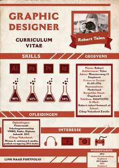 Curriculum Vitae van grafisch ontwerper Robert Talen