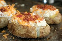 Twice Baked Potatoes Recipe - these are the best potatoes