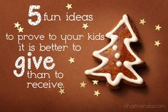 Teaching kids to love giving!