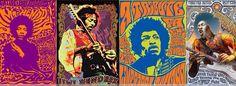 Jimi Hendrix Psychedelic Posters