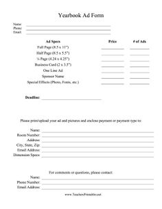 yearbook order form template - Google Search   Yearbook design ...