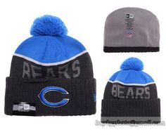 NFL Chicago Bears Beanies Knit Hats Caps Black/Blue Warm Winter Caps Sports Caps
