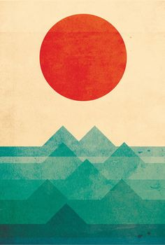 'The sun, the sea, the wave' by Budi Satria Kwan on artflakes.com as poster or art print $27.72