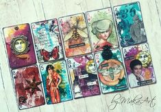 My altered playing cards/ATC...  My journey through the Scrapbookworld...: *Good thinks come in small packages...*