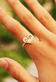 Custom Initial Heart Ring - WHAT IN THE WORLD! Someone made this for me & didn't know ;)