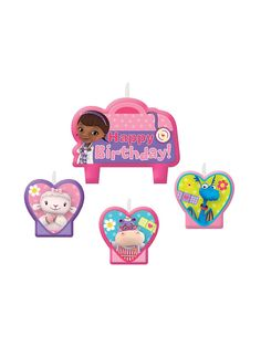 Doc McStuffins Birthday Candle Set | Reduced Decorations