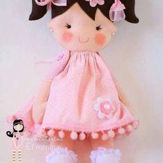 Patrón Muñeca de Fieltro Soft Dolls, Recital, Felt Crafts, Projects For Kids, Princess Peach, Hello Kitty, Couture, Children, Pattern