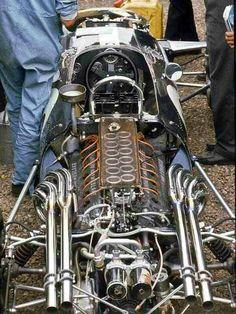 Dan Gurney (Eagle-Weslake) Grand Prix de Grande Bretagne 1967 - source F1 History & Legends.